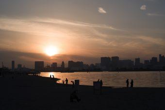 夕陽ダイバー