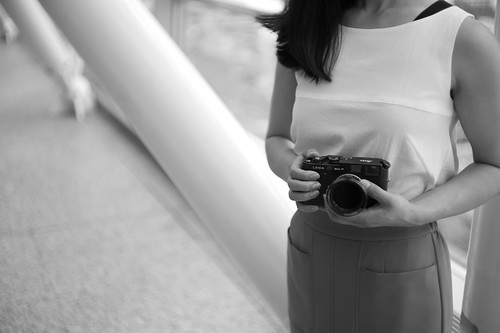 wife with Leica M4-P